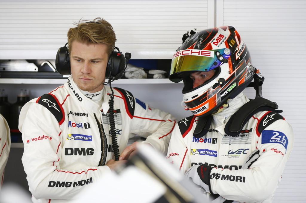 Porsche Team: (l-r) Nico Huelkenberg, Nick Tandy