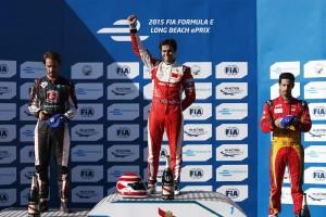 Il podio del Long Beach ePrix 2015
