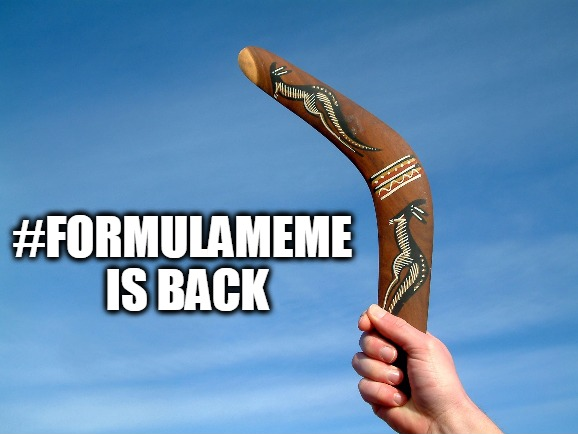 formula meme is back
